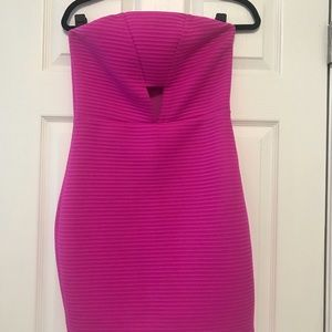 Express Hot Pink Cocktail Dress